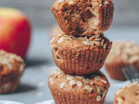 Apple Pie Streusel Muffins [Vegan]