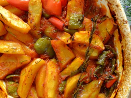 Roasted Potatoes with Peppers
