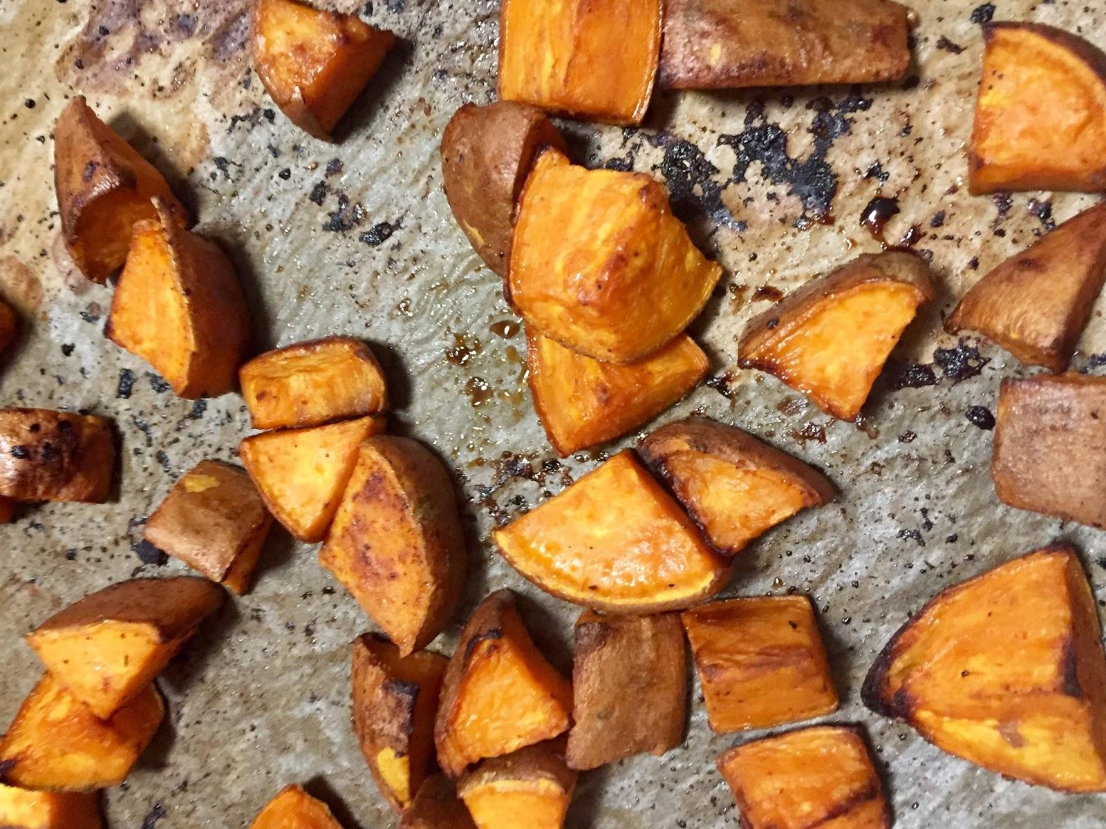 Teriyaki Sticky Sweet Potatoes