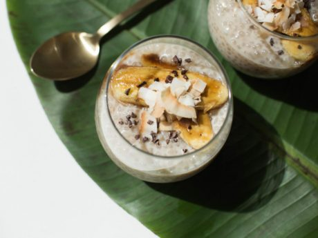 Coconut Tapioca Pudding with Caramelized Bananas