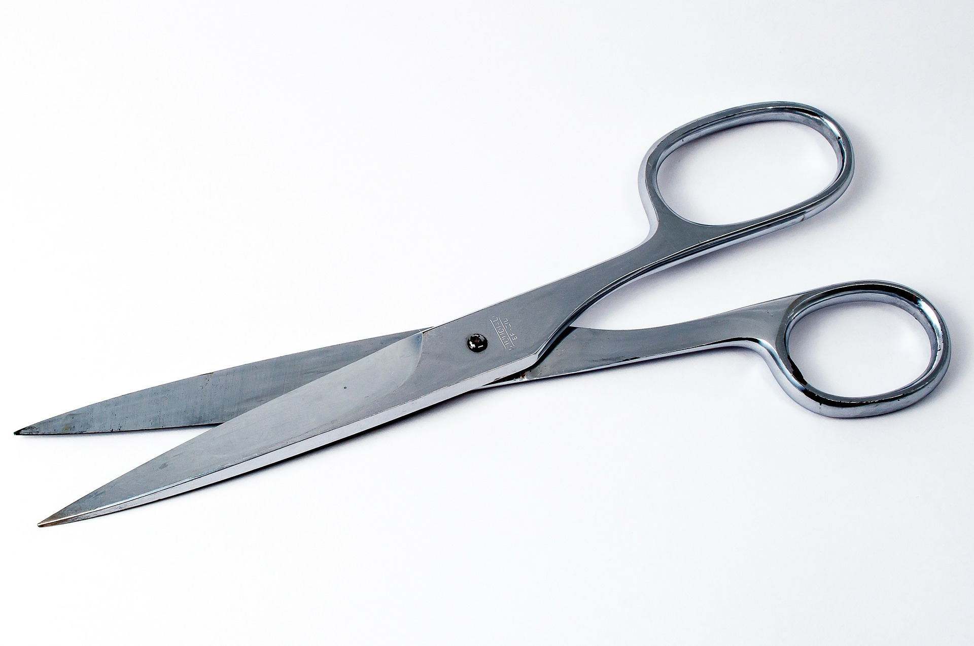 Scissors on an isolated background