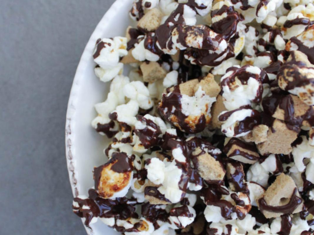 Vegan Smores Popcorn