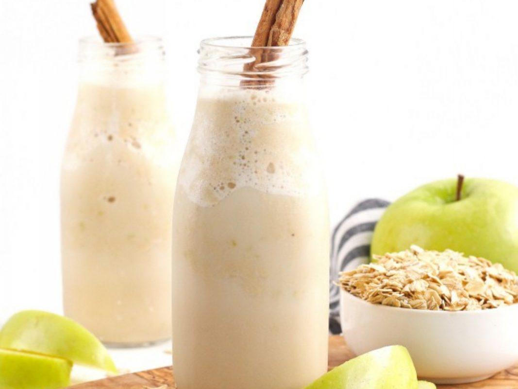 high-protein apple smoothie