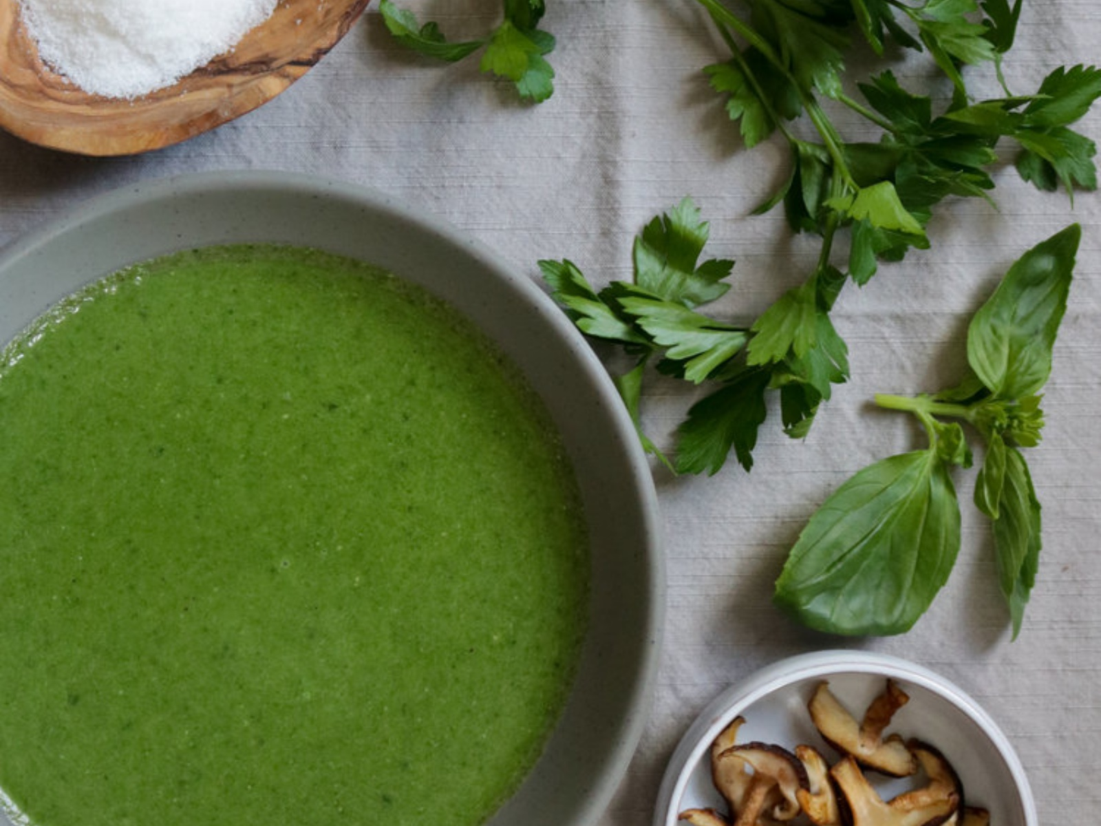 Green Spinach and Tahini Soup