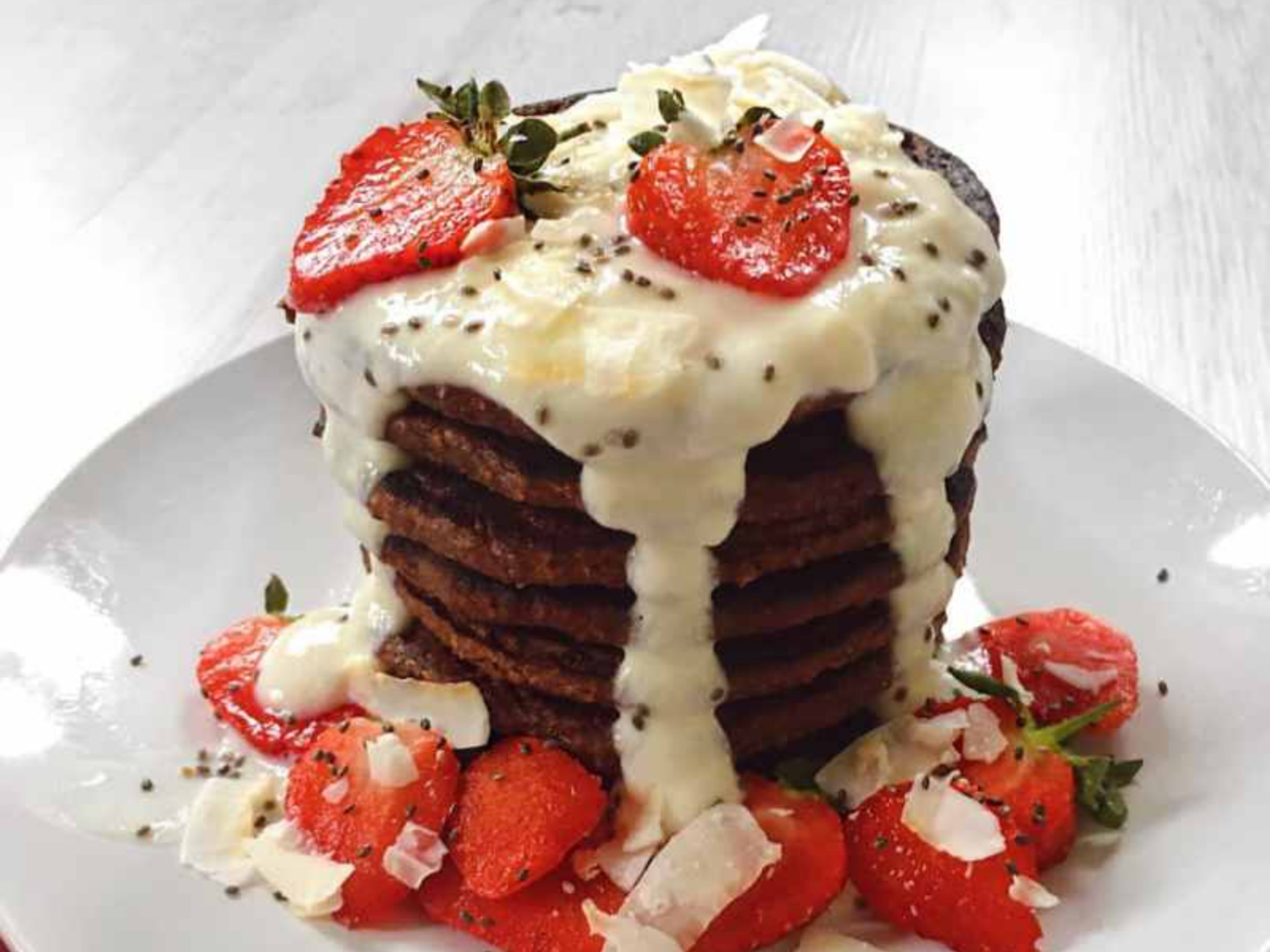Strawberry Chocolate Pancakes Vegan Gluten Free One Green Planet