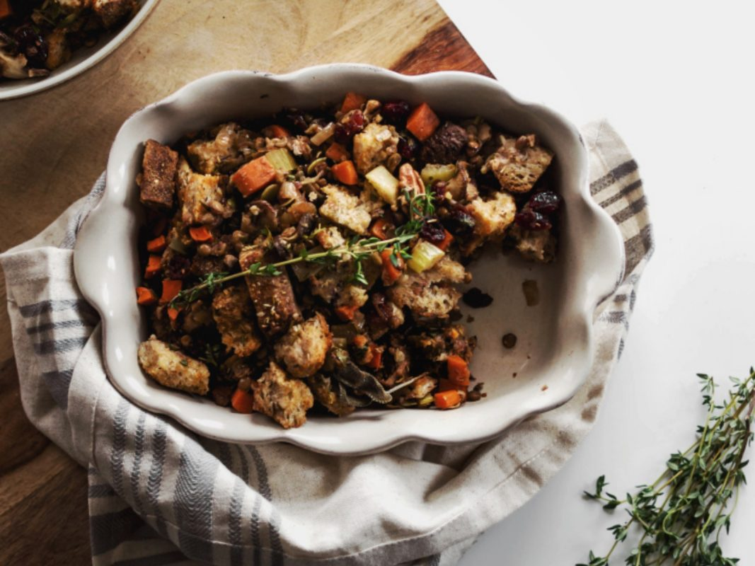 Vegan Sage Rosemary and Thyme Stuffing