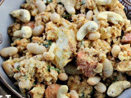 Tahini Cashew Cauliflower