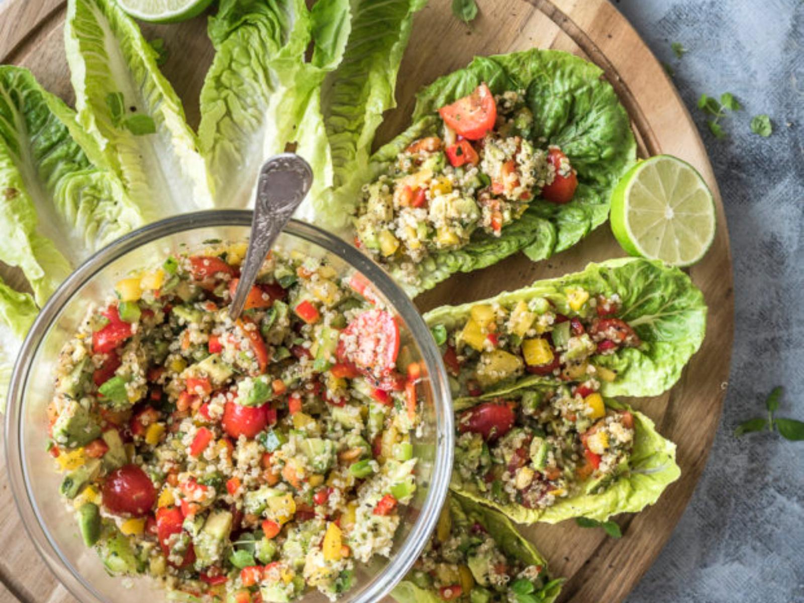 Quinoa Avocado Lettuce Wraps