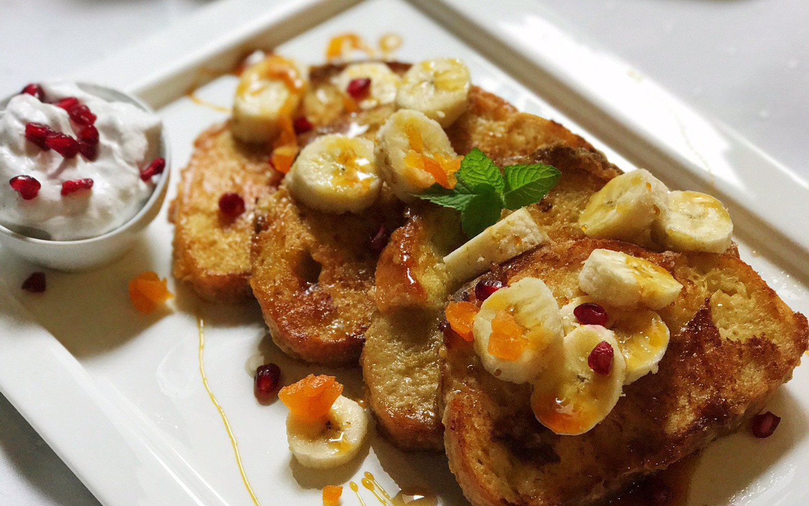Apricot French Toast with banana