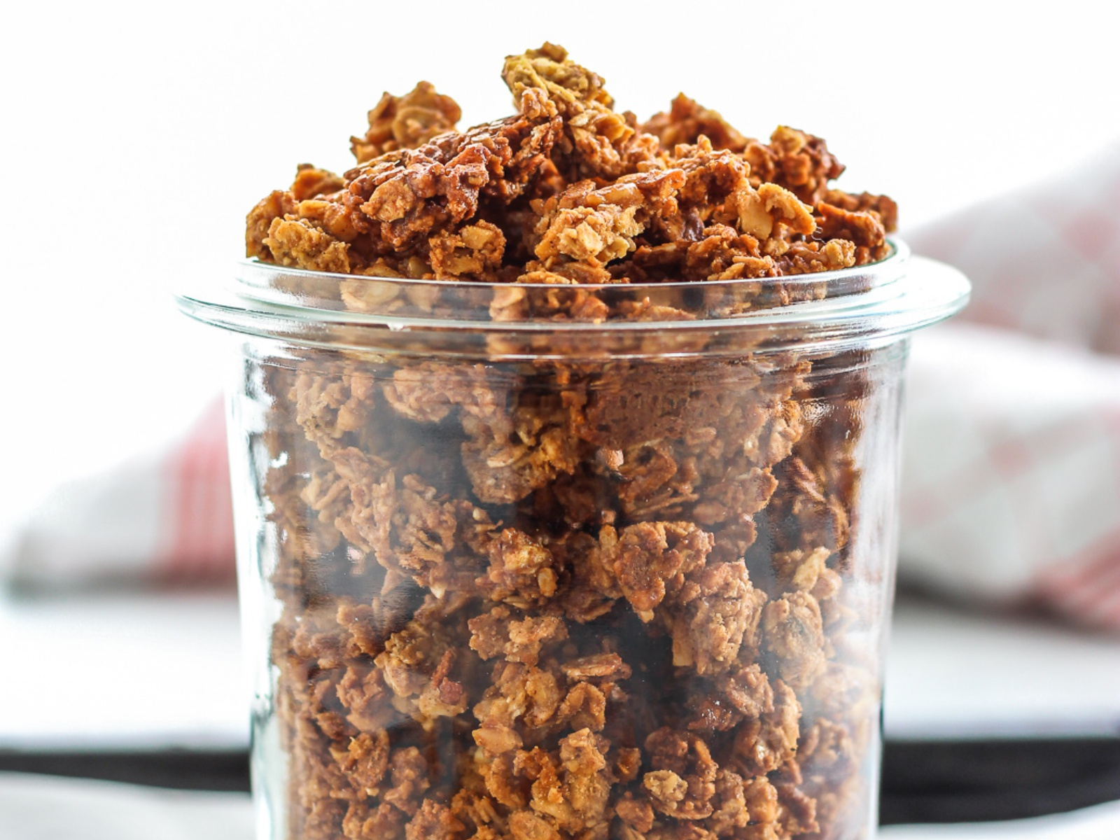 Oil-free Cinnamon Crunch Granola