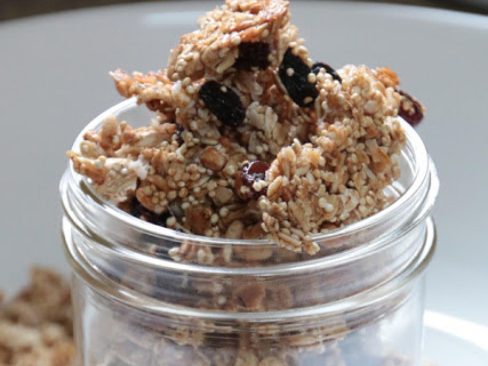 Vegan Coconut Quinoa Granola Clusters