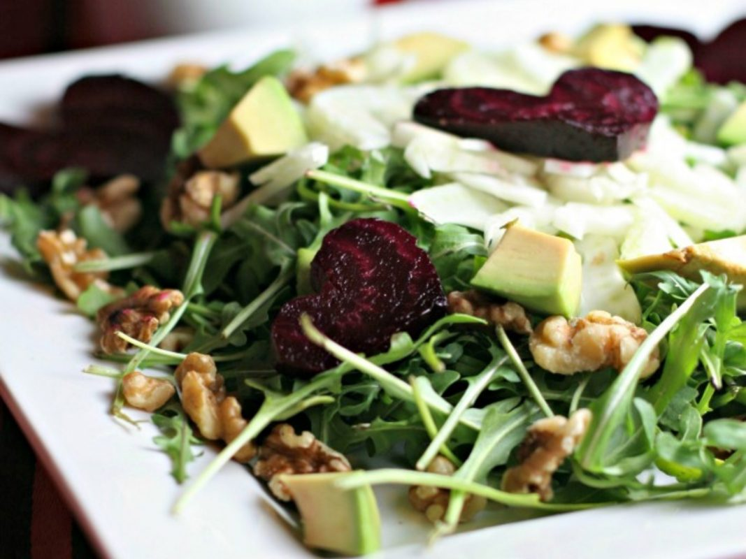 Beet and Arugula Salad with Fennel