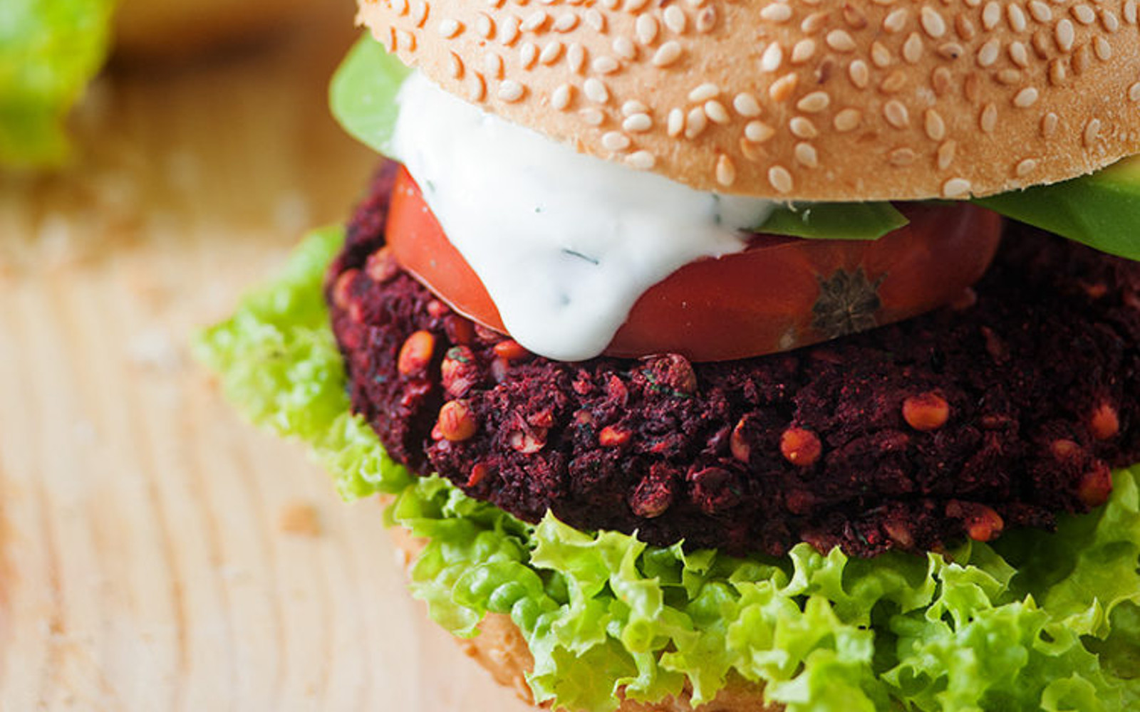Vegan Indian lentil burgers with dill dairy-free yogurt sauce