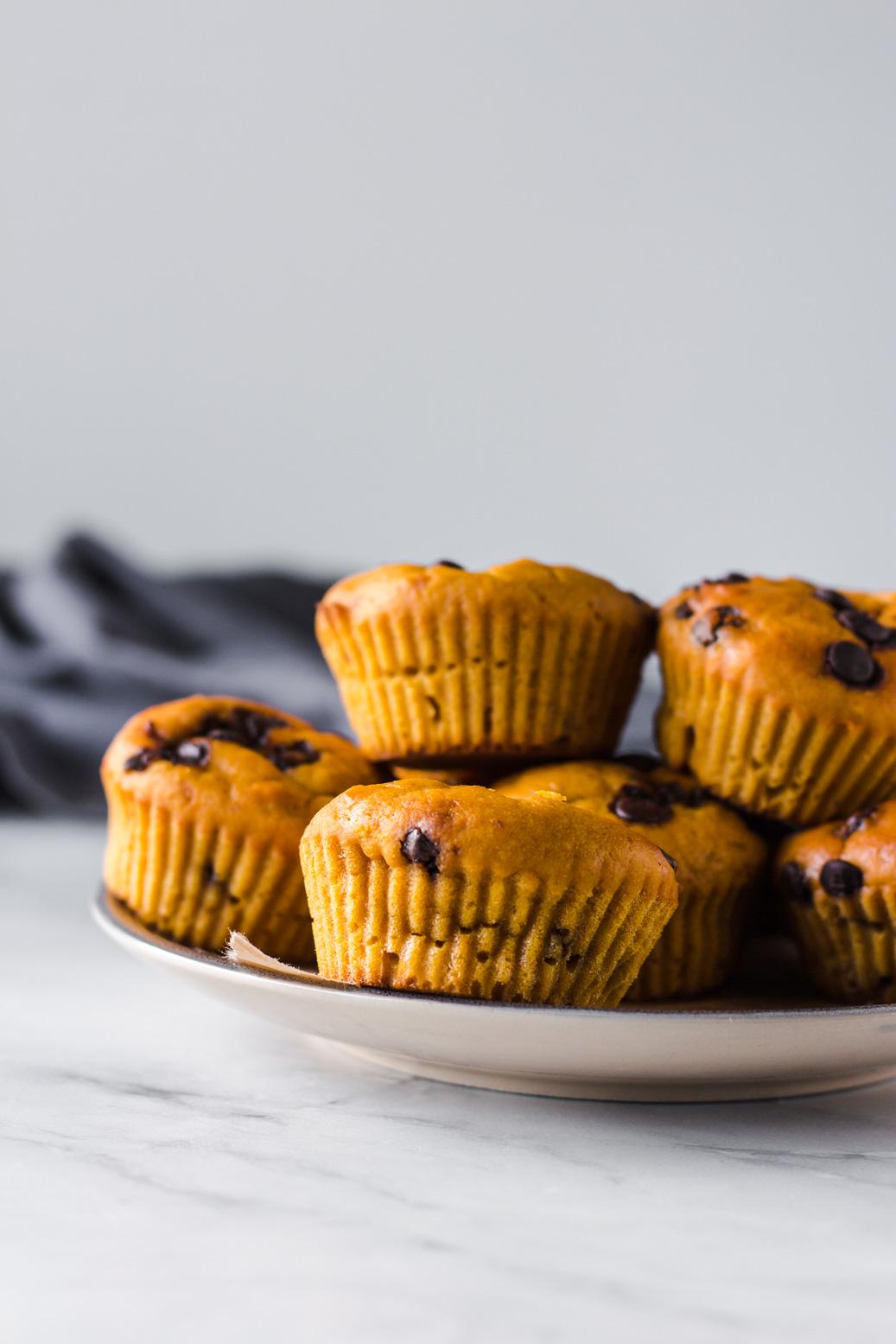 Chocolate Orange Pumpkin Muffins [Vegan, Oil-Free, Refined Sugar-Free]