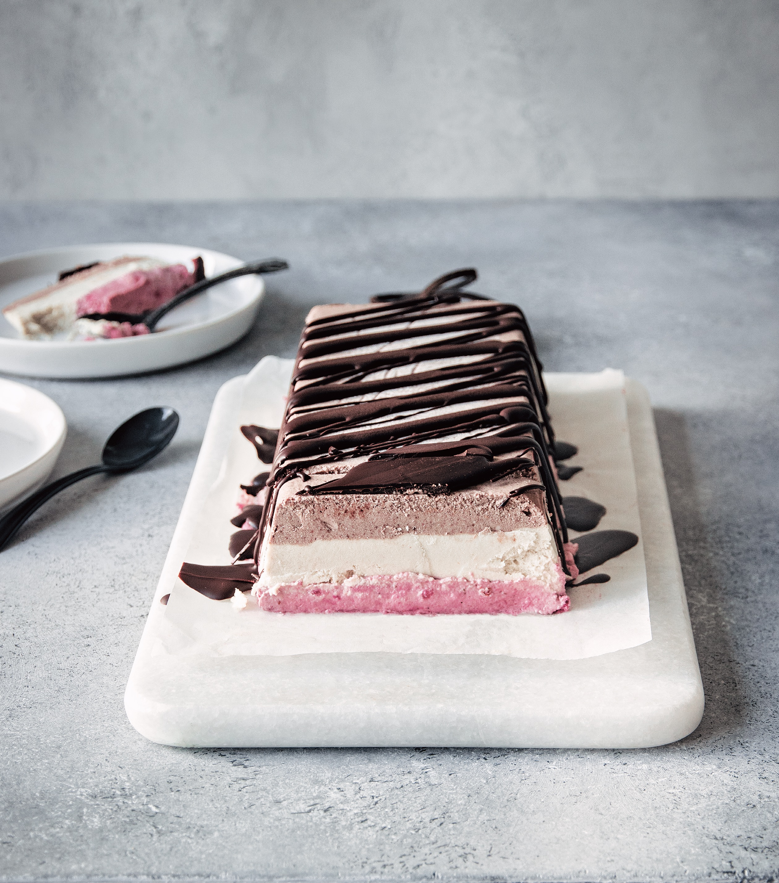 Vegan Neapolitan Ice Cream Cake