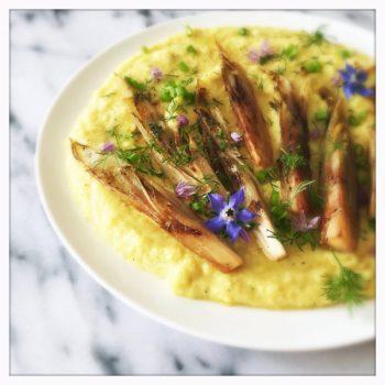 Creamy Polenta with Carmelized Chicory