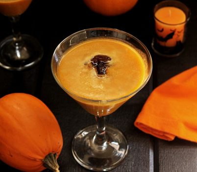 Vegan pumpkin spice latte martini