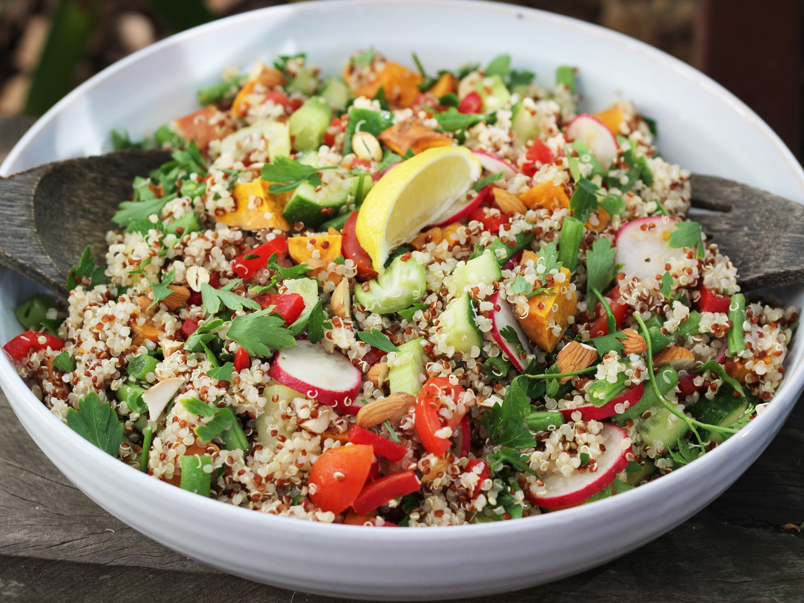 High-protein quinoa veggie salad