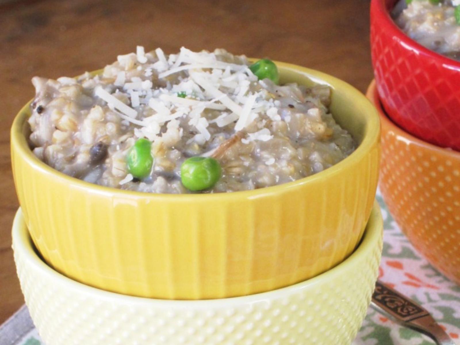 Savory Mushroom Steel Cut Oatmeal