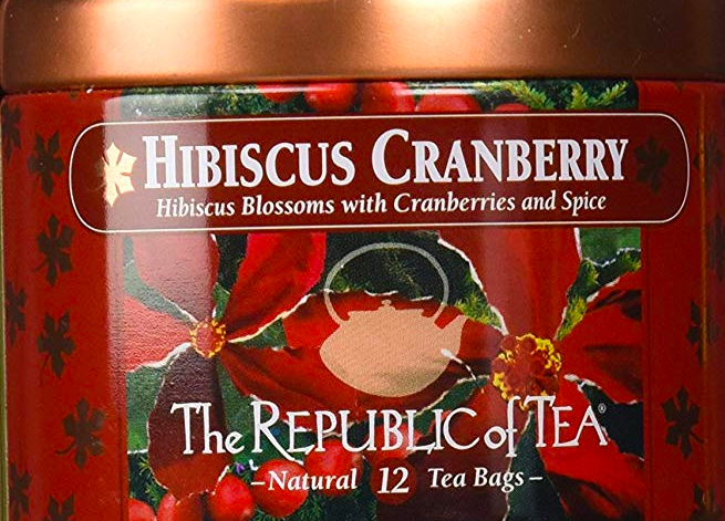 Hibiscus cranberry tea tin