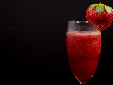 Strawberry Pomegranate Bellini