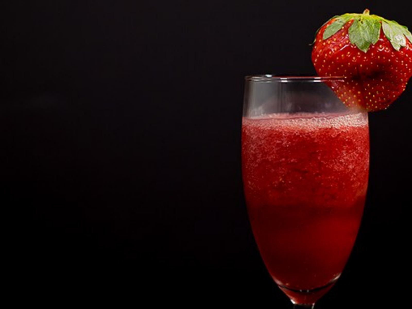 Vegan Strawberry Pomegranate Bellini