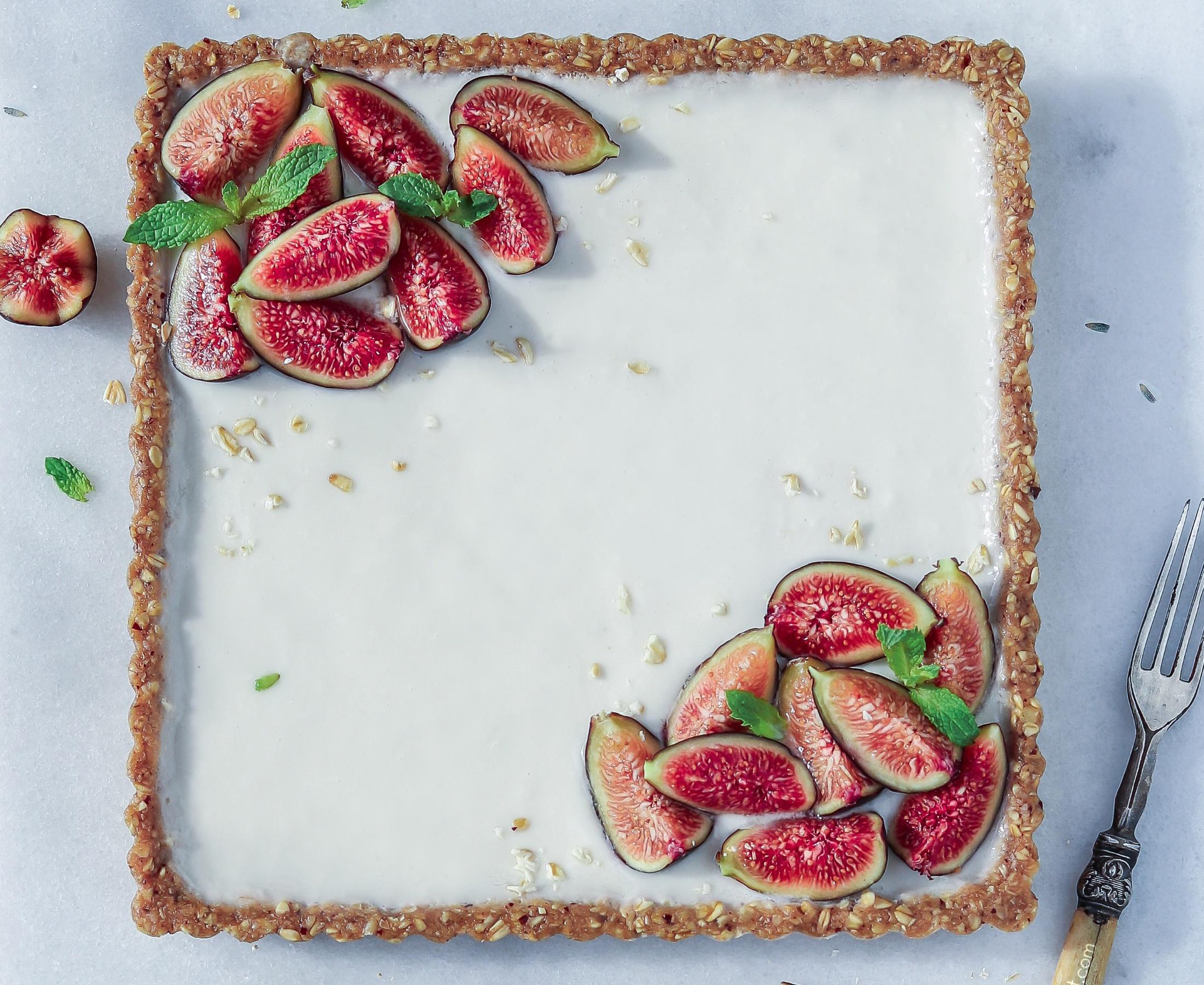 No-Bake Lavender Fig Custard Tart