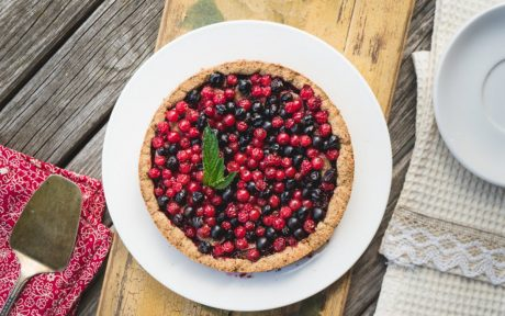 Currant and Berry Tart With Date Caramel