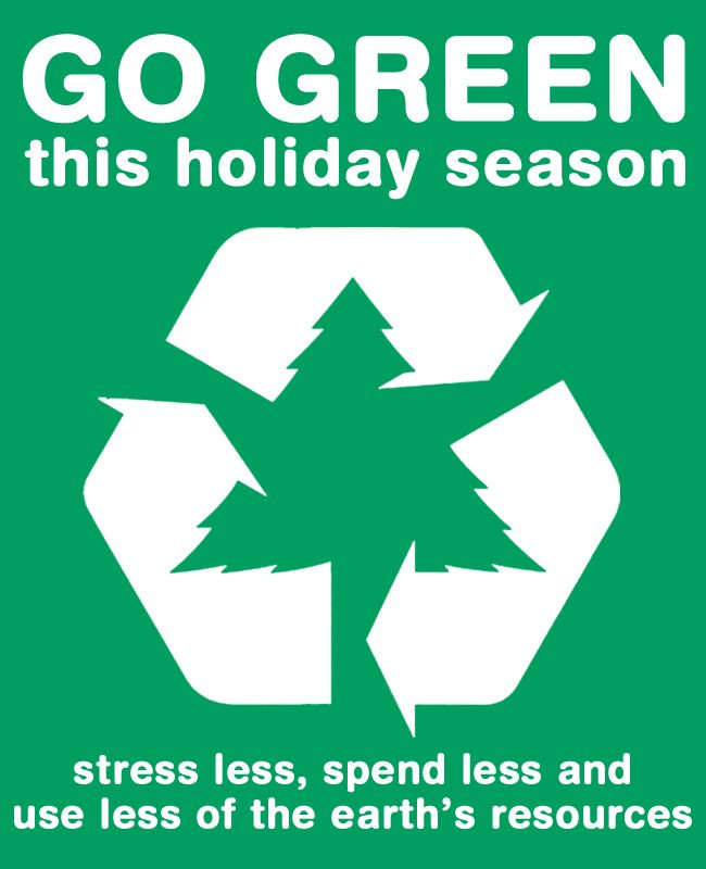 Go green this holiday season
