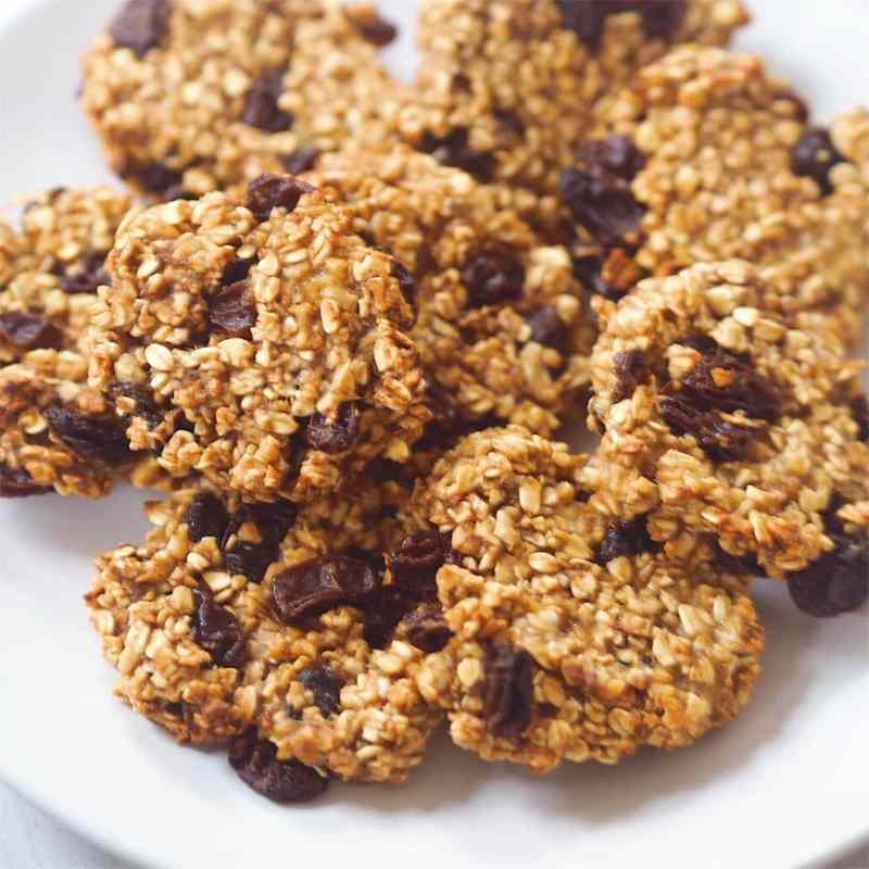 3-Ingredient Raisin Oat Cookies [Vegan]