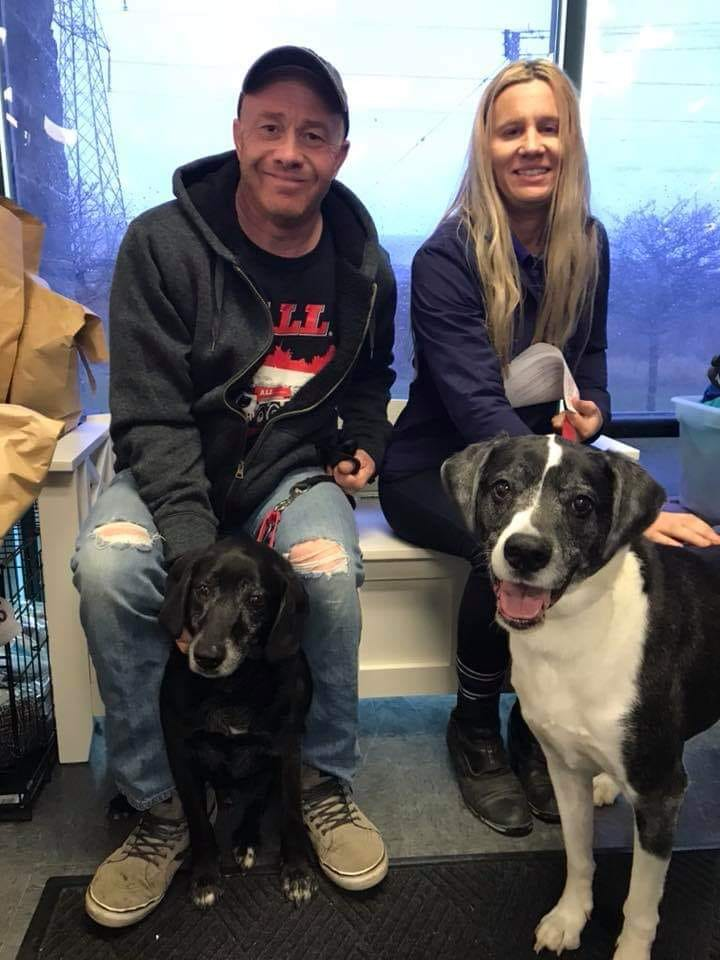 Cosmo and sam with adoptive family