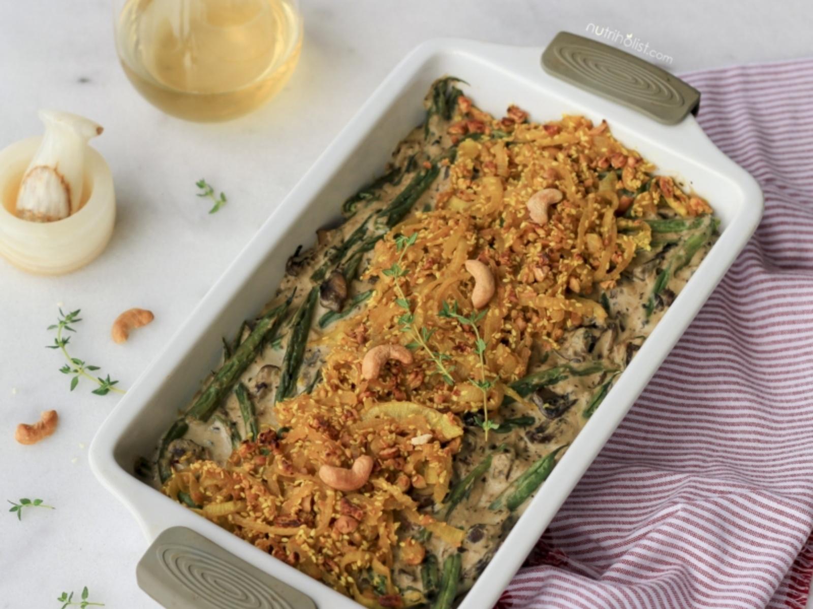 green bean mushroom casserole vegan