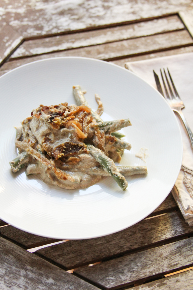 Green Bean Casserole [Vegan, Oil-Free]