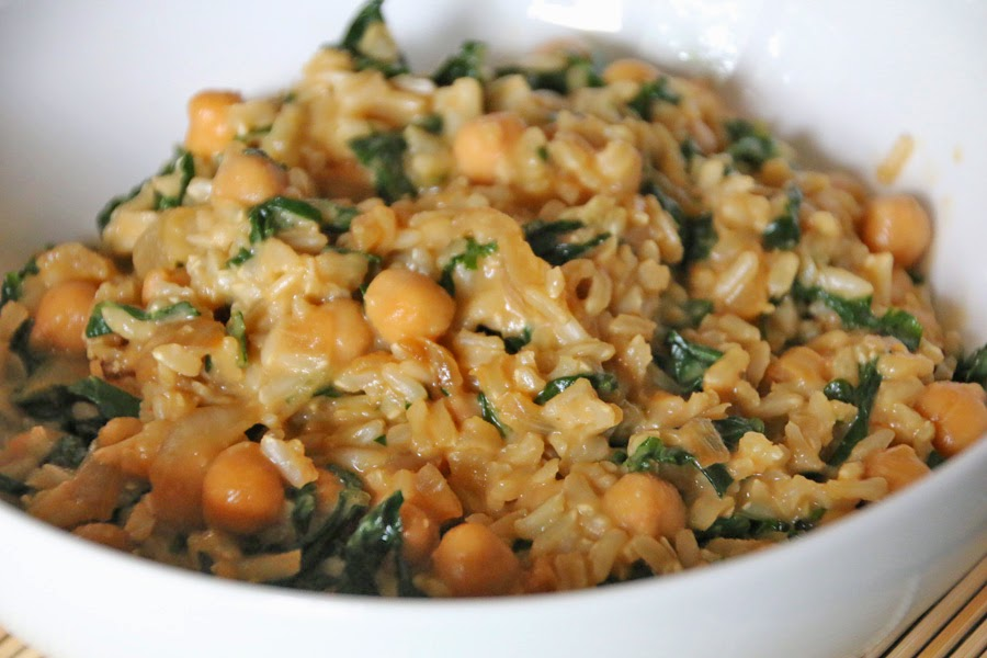 Chickpea and Kale Asian Rice