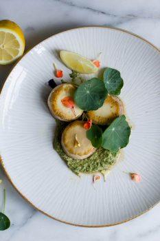 Oyster Mushroom Scallops With Nasturtium Pesto [Vegan]