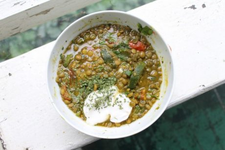 Green Curry Lentil Soup [Vegan]