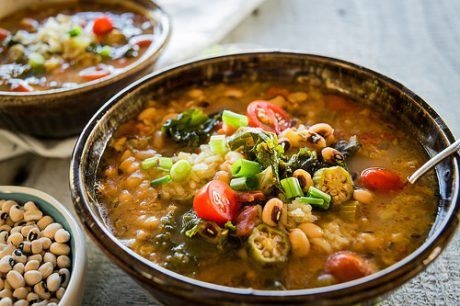 Hoppin' John With Okra and Tomato Stew [Vegan]