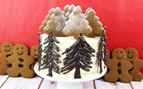 Winter wonderland gingerbread cake