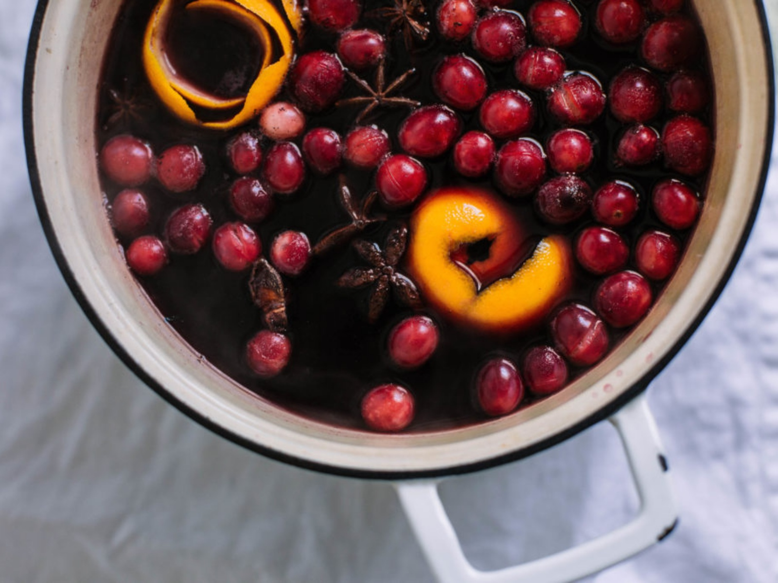 Mulled Rose Cranberry Pear Cider