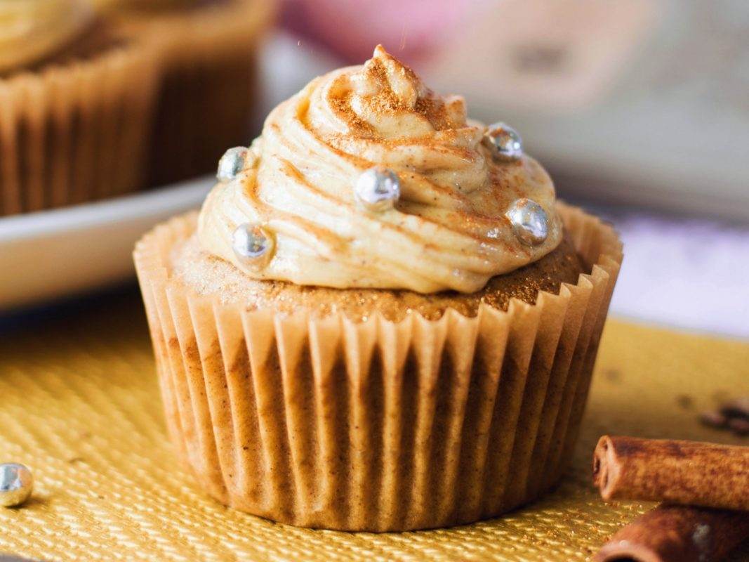 Vegan Nougat Cinnamon Cupcakes