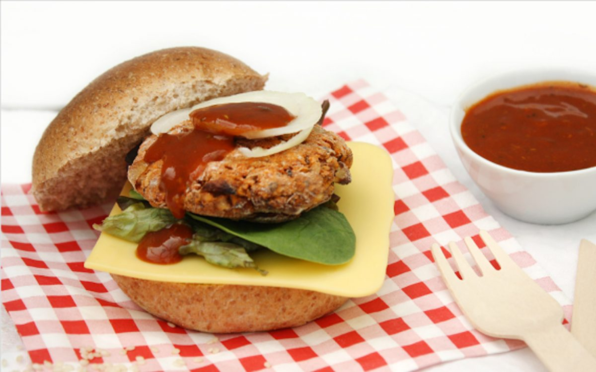 Black-Eyed Pea Burgers with Sugar-Free BBQ Sauce