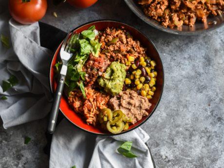 Vegan Sofritas Burrito Bowls
