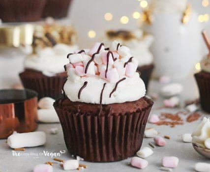 Vegan Hot Chocolate Cupcakes