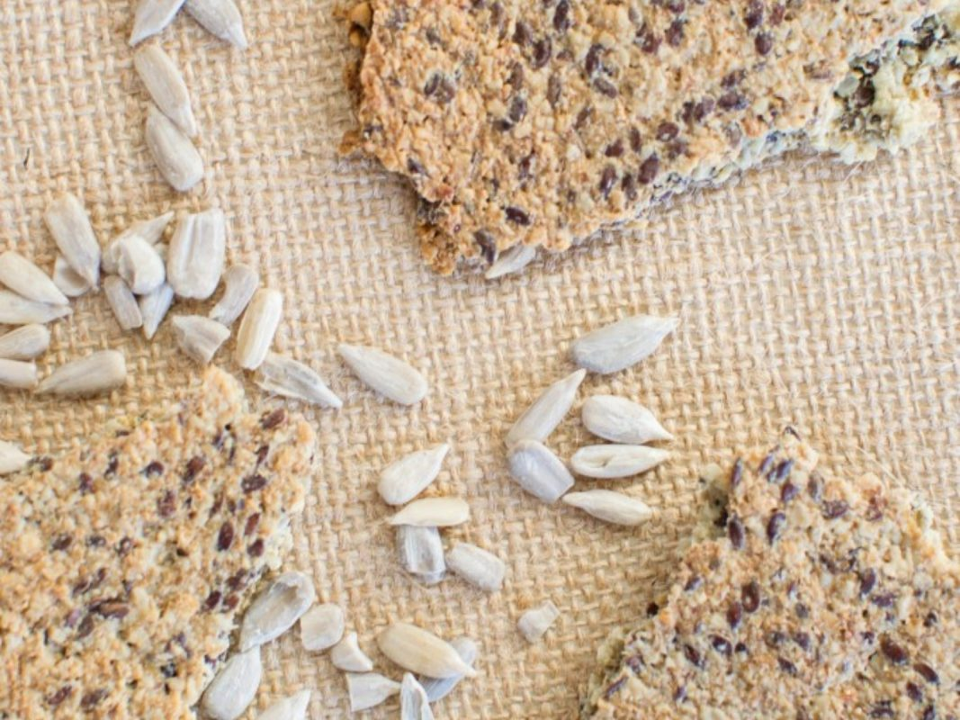 Garlic and Onion Sunflower Seed Crackers