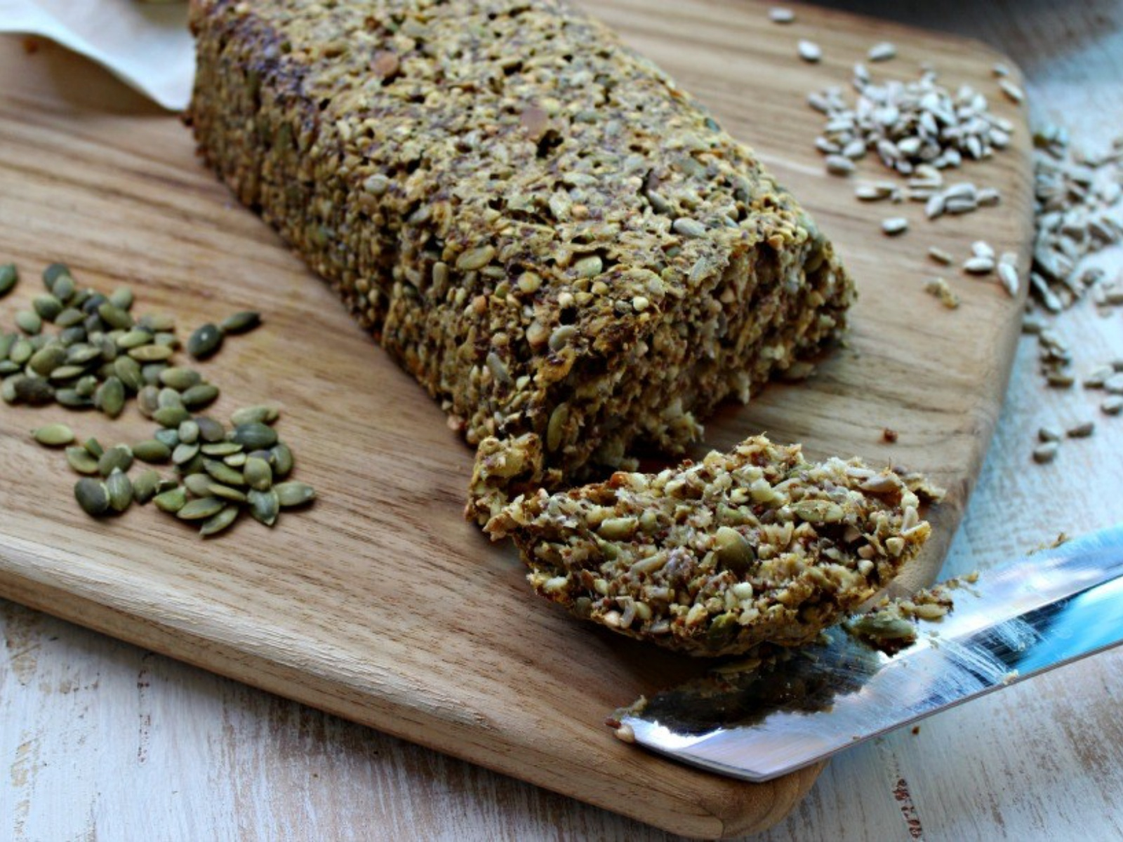 Gluten-free bread with pumpkin seeds