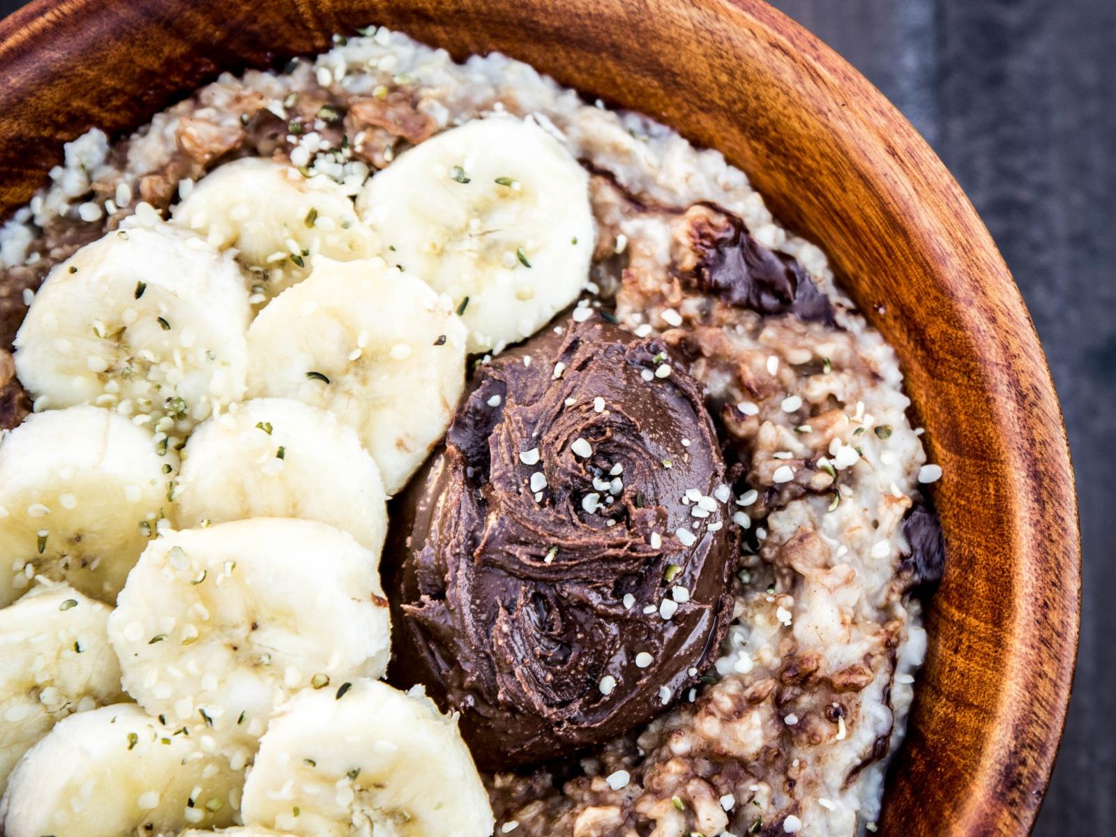 Chocolate Peanut Butter Swirl Protein Oatmeal