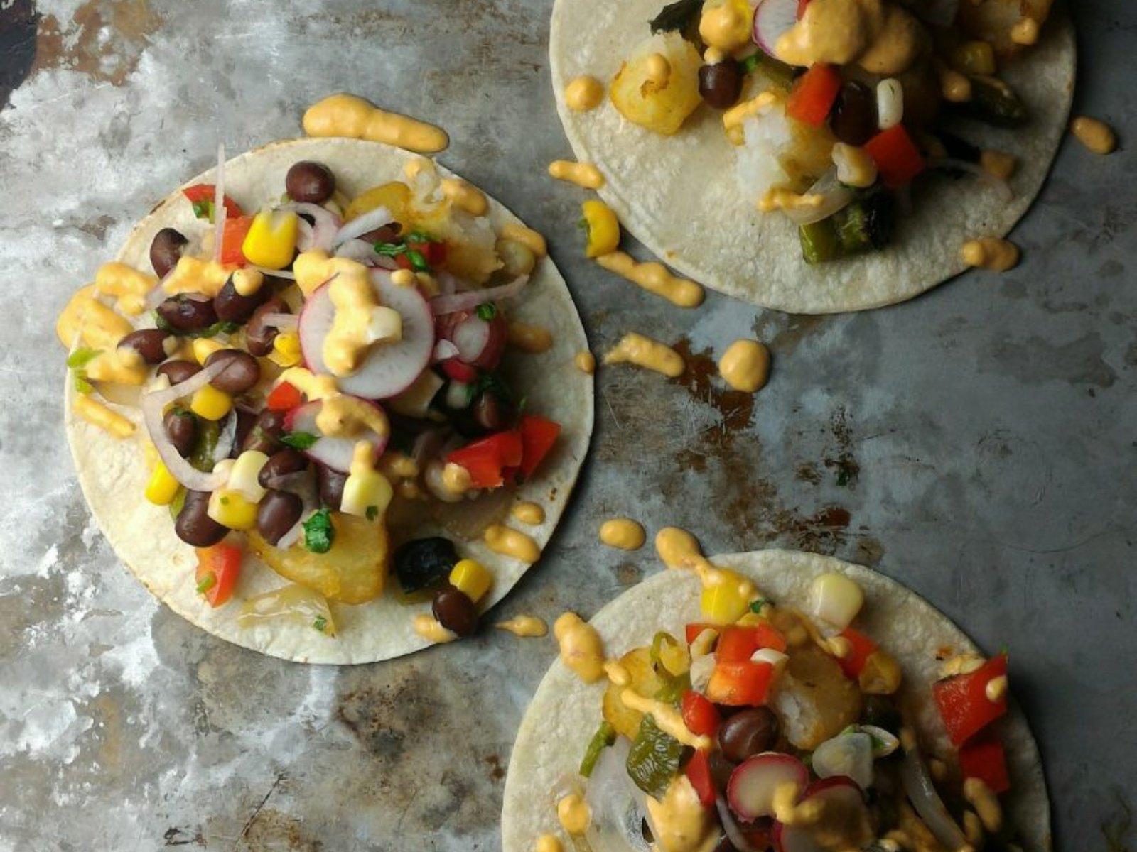 Potato Tacos with Homemade Salsa