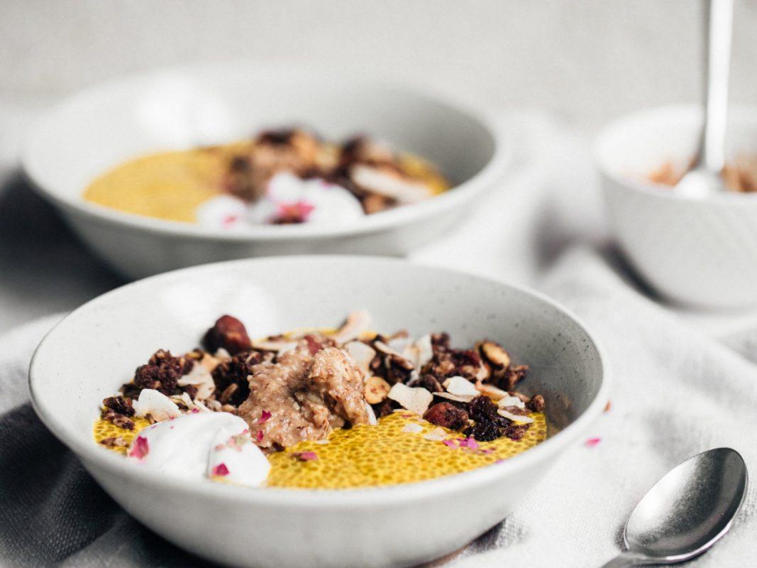 Vegan Saffron Chia Pudding