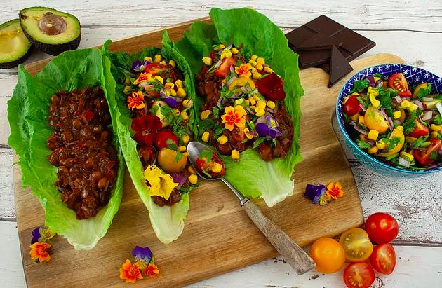 Vegan Chilli Chocolate Tacos