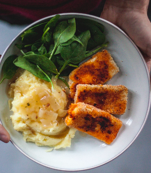 Vegan Crispy Tofu Bowl